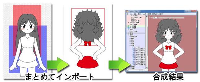 2つのPSDをまとめて合成インポート